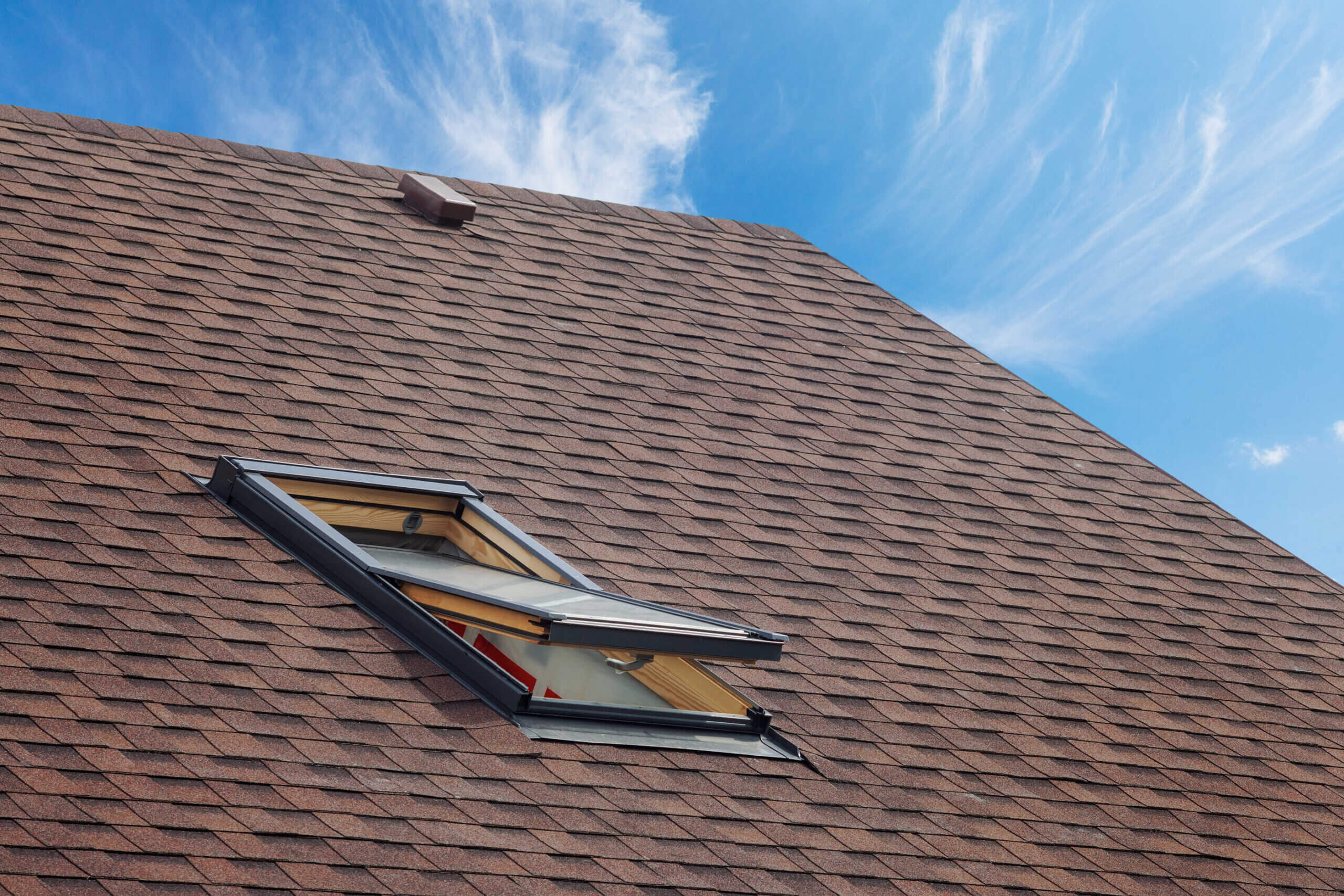 This is a picture of an asphalt roof shingles.